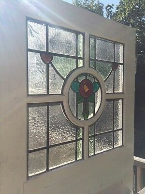 Large Victorian Stained Glass Front Door Reclaimed Period Antique Leaded Old