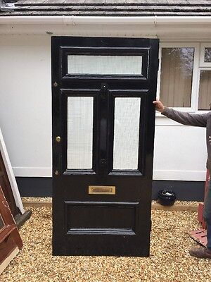 V Large Victorian Glazed Front Door Wood Reclaimed Period Old Antique Wood 1