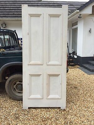 V Large Bespoke Victorian Front Door Antique Period Hardwood Antique Old Joiner