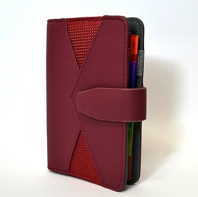 Organizer Niji Ad Anelli Colore Bordeaux Rubrica Notes Diary 14,5X10
