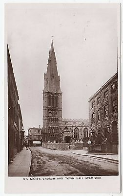 STAMFORD - Church / Town Hall - by E F Rogers - c1920s era Real Photo postcard