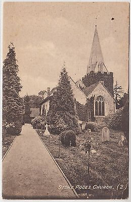 STOKE POGES CHURCH - H G Stone - Buckinghamshire -  Edwardian 1910 used postcard