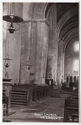 STOW CHURCH - Lincoln - 1920s era used Real Photo Doncaster Rotophoto postcard
