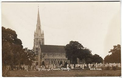 SLOUGH - St Mary's Church - WHA #4090 - c1910s era Real Photo postcard