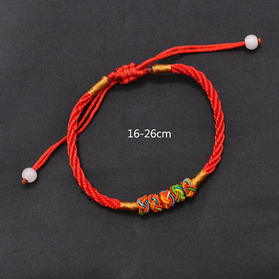Chinese Feng Shui Lucky Red Rope Bracelet Oriental Good Luck String Adjustable