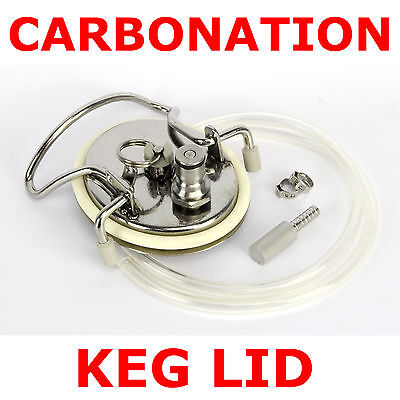 Carbonation Keg Lid Kit Stainless Diffusion Stone Ball Pin Lock Home Brew