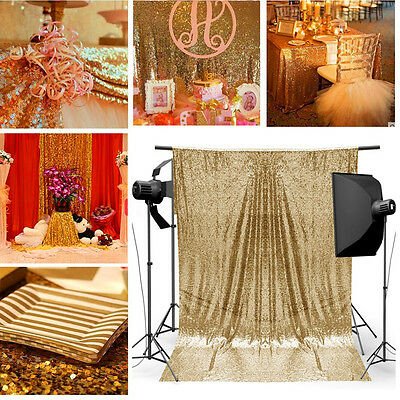 AU 1.2x1.8M Gold Sequin Photo Backdrop Wedding Booth Wall Photography Background