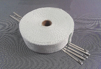 5m Of  Exhaust Manifold Downpipe Heat Wrap & 5 Ties L1