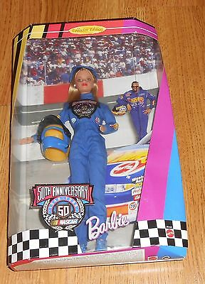 NASCAR Barbie 1998 NEVER REMOVED from Box 50th Anniversary Collectors Edition