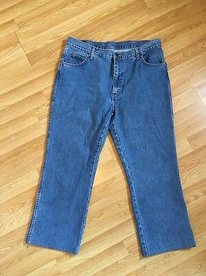 Wrangler Texas Mens Blue  Classic Fit, Straight Stretch Jeans  W38 L26