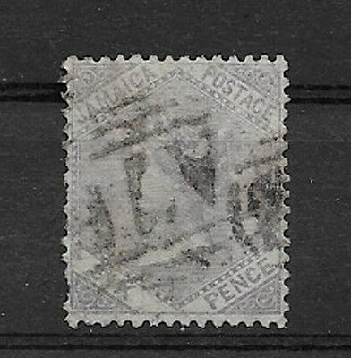 JAMAICA , QUEEN VICTORIA , 1860/63 , 6p STAMP  , PERF , USED