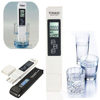 TDS & EC Meter Quality Water tester Large LCD high accurate-multi-function In-UK