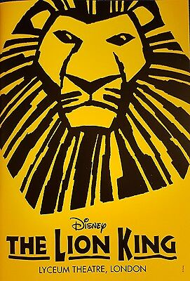 The Lion King theatre programme