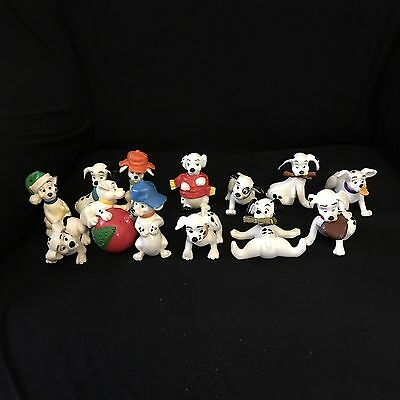 13 Small Posable Plastic Disney 101 Dalmations Figures / Toys / Cake Toppers  C1