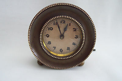 ~~~Small Vintage Brass Cased Clock--Working Order~~~