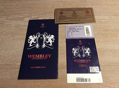 UEFA Champions League Final Ticket Wembley 2011 + welcome pack + metal plate