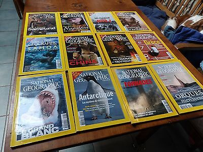 12 n° de National Geographic 2000  2002 2004