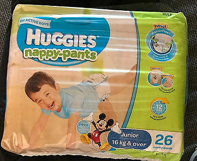 Huggies Nappy Pants Bulk - Junior Boy 16+ kg (26)