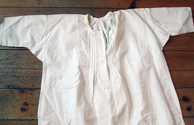 Antique French Linen Chemise Nightgown Large
