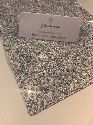 Grade 3 White Silver Holographic Glitter Fabric Sheets A5 Hair Bows Crafts