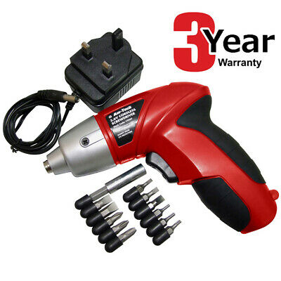 3.6V Cordless Electric Screwdriver With Accessories And Charger - 3 Yr Warranty