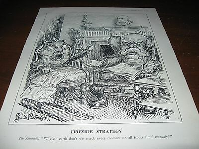 1941 Original POLITICAL CARTOON - WWII w FDR ROOSEVELT at FIRESIDE CHAT Knowalls