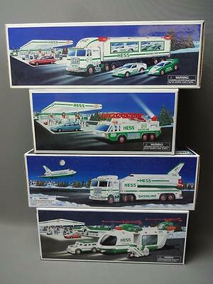 Hess Truck Lot 1996 Emergency 1997 Racers 1999 Space Shuttle 2001 Helicopter
