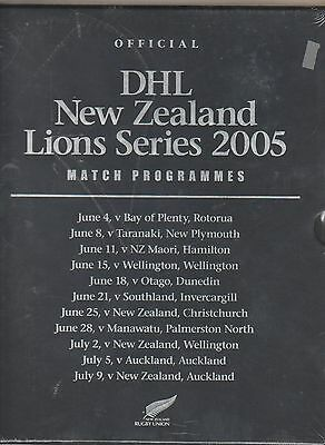 British Lions Series In New Zealand Rugby Programmes 2005 In Unopened Slip Case