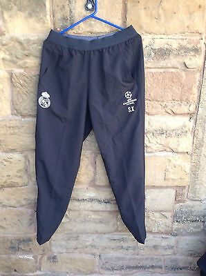 Brand New With Tags Real Madrid FC 2016/17 Adidas Tracksuit Trousers Medium Blk