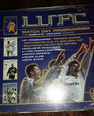 CD: Leeds United home Match Day Programmes 1999-2000. Complete on CD