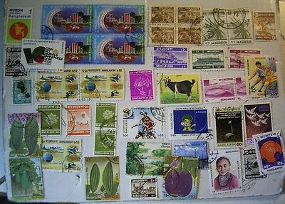 Bangladesh Used Stamp Selection Plus Cover (Stamps On Both Sides)