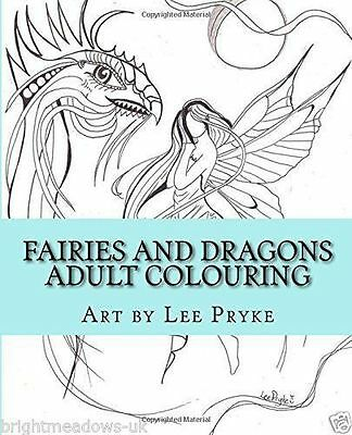 FAIRY ART GREYSCALE Adult Coloring Book Creative Therapy Fantasy ...