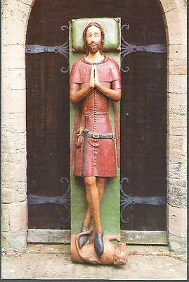 Much Marcle, Herefordshire - St. Bartholomew Church effigy of De Helyon postcard