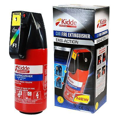 Kidde Home & Car Fire Extinguisher Easi-Action for wood, paper & petrol fires.