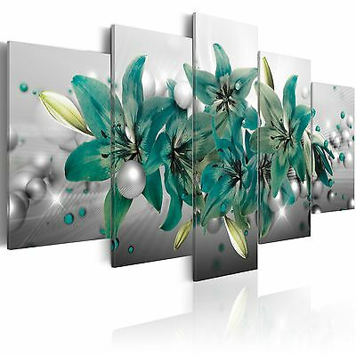 leinwand bilder xxl kunstdruck wandbild blumen lilien abstrakt b c 0155 b n eur 22 90. Black Bedroom Furniture Sets. Home Design Ideas
