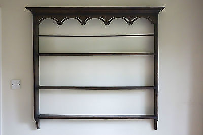 Antique Welsh Oak Country Wall Hanging Plate Rack  ? George 111