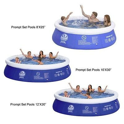 Jilong Quick Up Inflatable Prompt Paddling Pool 8ft 10ft 12ft Garden Outdoor