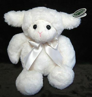 """14"""" Snuggly White Easter Lamb  """"babe""""#450366 Bearington Collection 2017"""