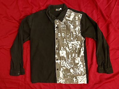Vintage RARE 90s Dogpile Punk Dress Shirt Size L Clash Sex Pistols