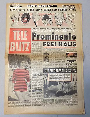 TELE BLITZ Telefunken music entertainment advertising news rare Germany 1950's
