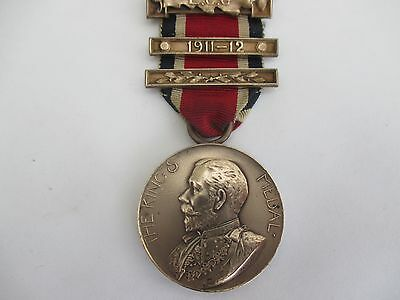 The Kings Medal With Bar 1911-12 - Named