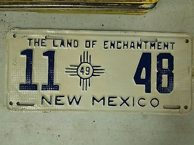 1949 NEW MEXICO Roosevelt County The Land of Enchantment License Plate 11 48