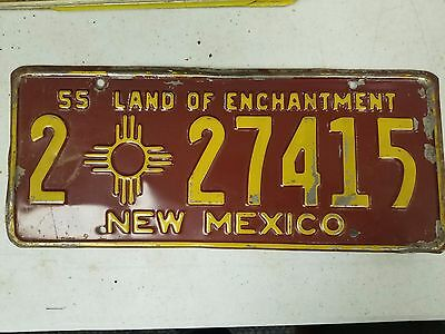 1955 NEW MEXICO Bernanlillo County The Land of Enchantment License Plate 2 27415