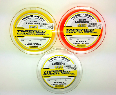 Asso Tapered Shock Leaders All sizes & Colours