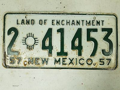 1957 NEW MEXICO Bernanlillo County Land of Enchantment License Plate 2 41453
