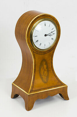 Antique Edwardian Inlaid Satinwood  Mantle Clock c.1900