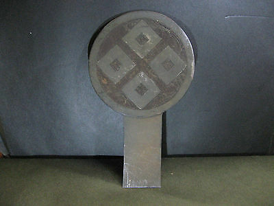 Real Japanese Maetate Bornze Takeda Family Crest 4 Diamond Shape made in Edo Era