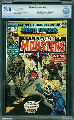 Marvel Premiere #28 CBCS 9.6 White Pages 1st Legion of Monsters