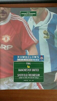 Manchester United v Sheffield Wednesday League Cup Final 1991 Programme