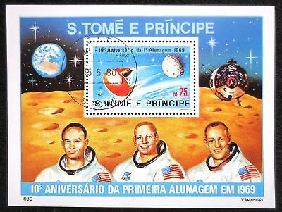 St Thomas & Prince Is. - 1979 - Apollo 11 - Cancelled Mint M/S